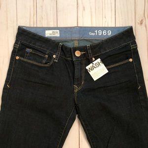 Gap dark wash sexy boot cut jeans size 26